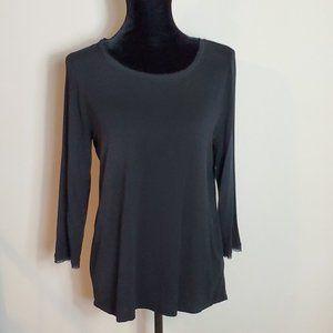 Rose + Olive Black Tunic Size M